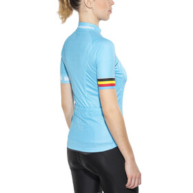 Bioracer Van Vlaanderen Pro Race Fietsshirt korte mouwen Dames blauw
